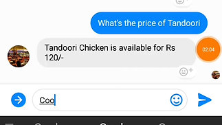 Restaurant Chatbot on FB Messenger