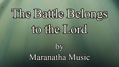 The battle belongs to the Lord $12.99