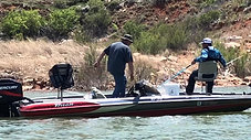 Catching some Walleye on Lake Meredith