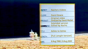 David Bowie • Ashes to Ashes • Long Version / Extended Video Edit • 1980