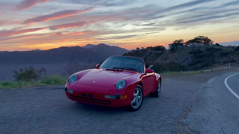 """Grandpa's Convertible"" -  Charlie will learn driving this beautiful 1995 Porsche 911"