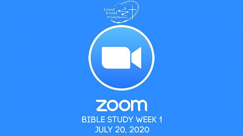 Zoom Bible Study- Week 1