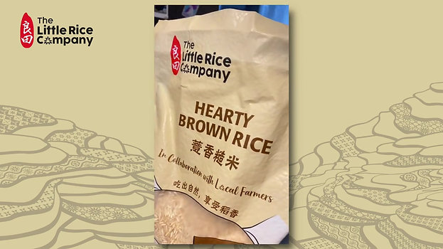 Little Ong's little one enjoys The Little Rice Company Low GI Brown Rice