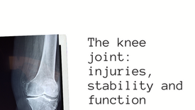 The knee Joint: Injuries, stability and function