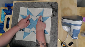 pressing star blocks