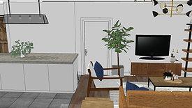 Ironwood Design -Industrial Mid Century - Unit 1F+D