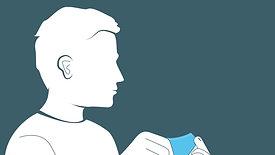 Mund-Nasen-Bedeckung richtig handhaben Schutzmaske Einwegmaske Communitymaske