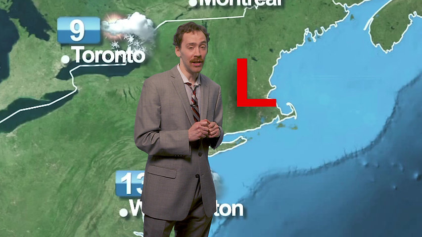 Weatherman predicts giant L in the sky