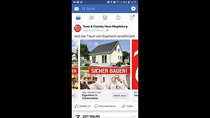 Karussell Anzeige - social media