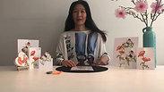 Online workshop klaproos met oranje vlinder