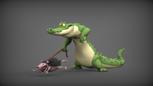 Alligator & Friend