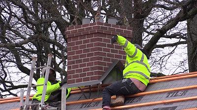 Poujoulat Zenith Ridgemounted Dummy Chimney Stack Install