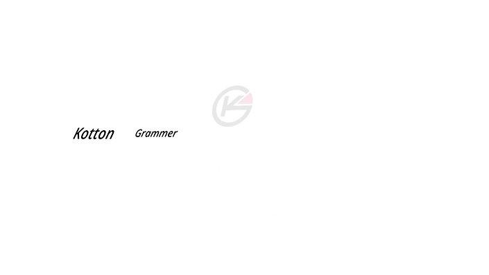 Cotton Grammar Typography
