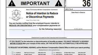 Form 36: Notice to contest payment of benefits.