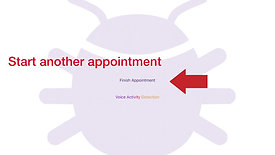 Appointment screen