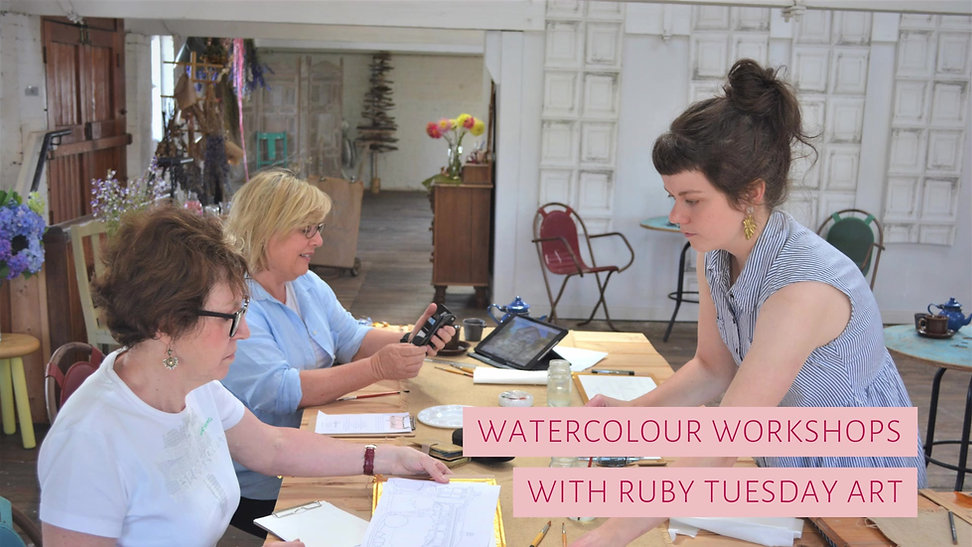 Tasmanian Art Classes - Ruby Tuesday Art Watercolour Workshops
