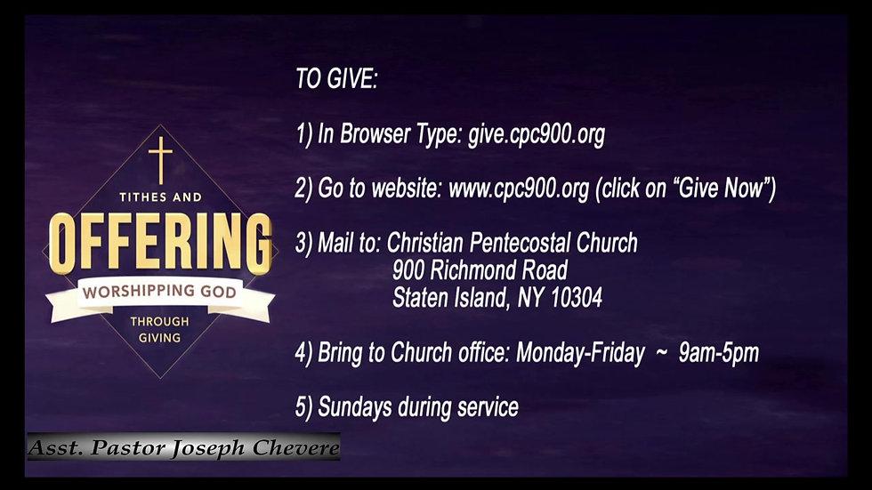 CPC Sunday Service 4.11.21