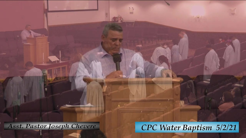 5-2-21 - Water Baptism Service