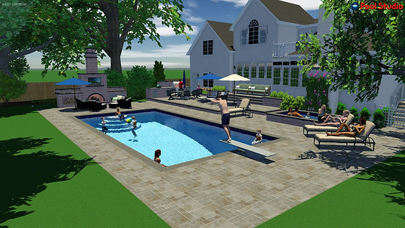 Winnetka Pool Design Storyboard