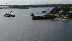 Hurricane Sally Barge Recovery