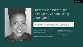 How to Become and Infosec Consulting Analyst w/ Ebun Ogundipe