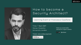 How to become a Security Architect w/ Francesco Cipollone