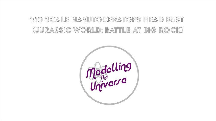 1:10 Scale Nasutoceratops Bust (Jurassic World: Battle at Big Rock)