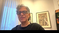 Deepak Chopra wishes Audrey congratulations on her new book