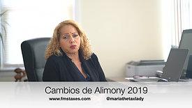 Cambios de Alimony 2019