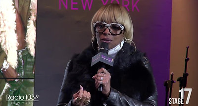 Marc interview with Mary J. Blige on (Part 1)