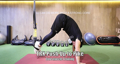 TRX push up crunch