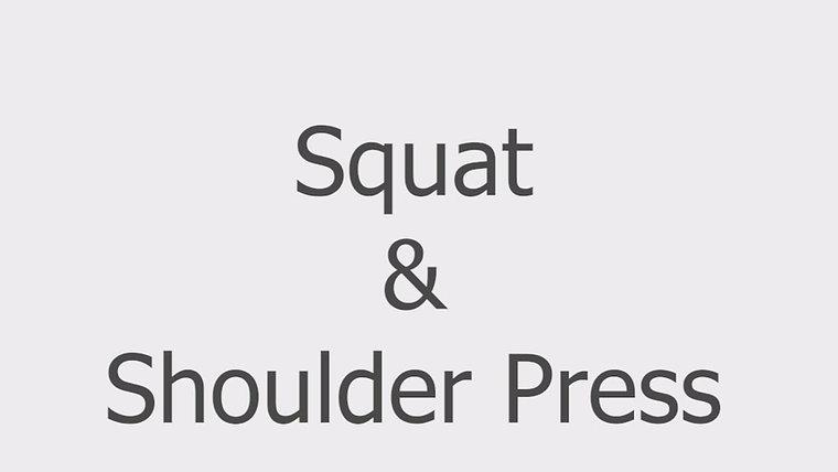 Squat & Shoulder Press
