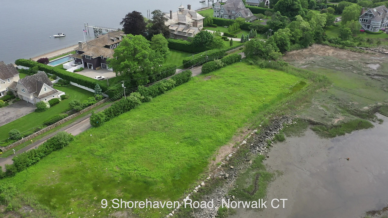 An aerial tour of 9 Shorehaven Road, Norwalk, CT