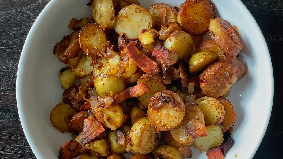 Warm BBQ Potato Salad