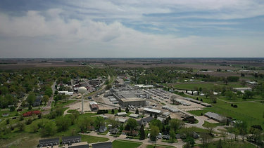 Aerial View of West Liberty Iowa - May 2021