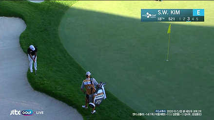 Si Woo Kim makes birdie on No. 18 in Round 2 at THE CJ CUP