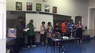 Avondale sing waiata at NZ Comfort Group graduation 2018