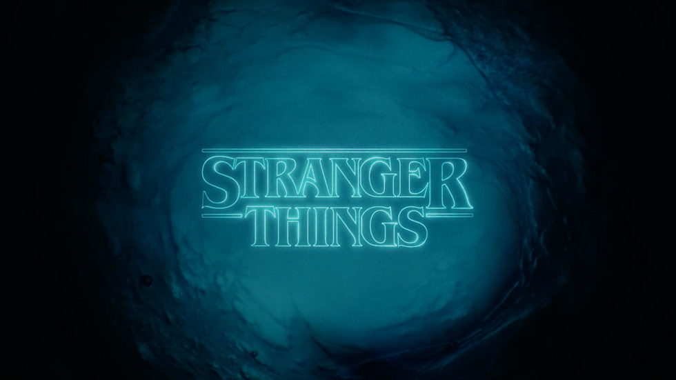 stranger things title sequence