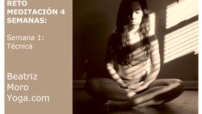 Semana 1. Técnica meditación
