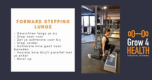 Forward stepping lunge