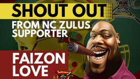Faizon Love Gives Zulus a Special Shout Out