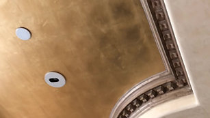 Gold Leaf Painted Ceiling