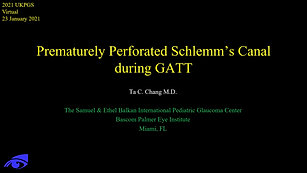 22 - Peter Chang - Prematurely perforated Schlemm's canal during GATT