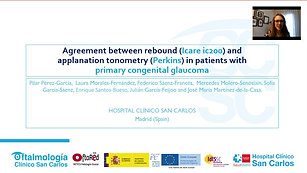 11 - Pilar Pérez-García - Agreement between rebound (Icare ic200) and applanation tonometry (Perkins) in patients         with primary congenital glaucoma