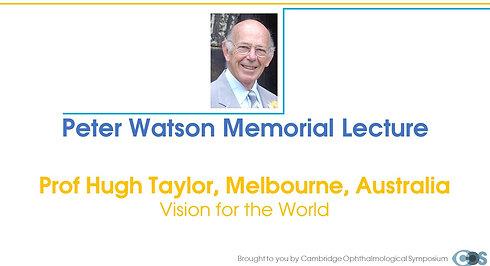 Peter Watson Memorial Lecture 2021