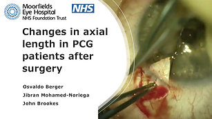 25 - Osvaldo Berger - Changes in axial length in PCG patients after surgery