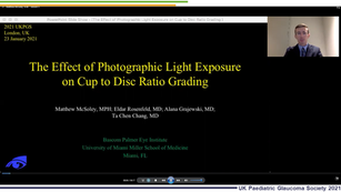 21 - Matthew McSoley - The effect of photographic light exposure on cup to disc ratio grading