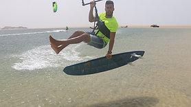 Kite surf progression - Back roll hand wash
