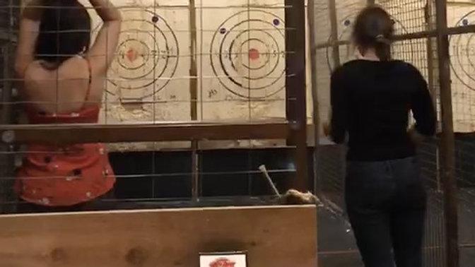 Axe throwing!