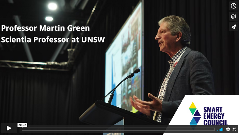 Smart Energy Conference & Exhibition 2021 - Smart Energy Solutions - Prof Martin Green